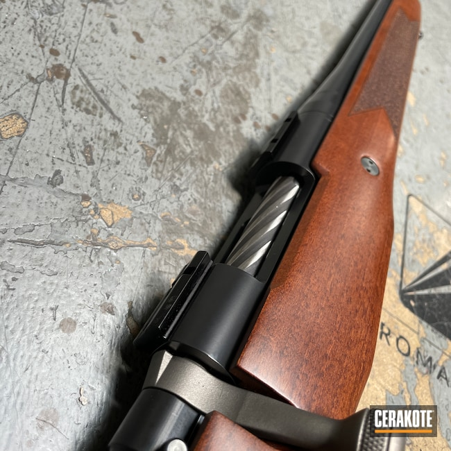 Cerakoted: S.H.O.T,Bolt Action Rifle,Hunting,Barreled Action,Patriot,Bolt Action,BLACKOUT E-100,Hunting Rifle,Stainless H-152,Mossberg