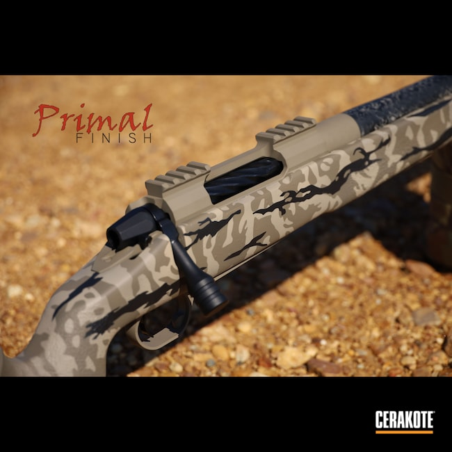 Cerakoted: S.H.O.T,Precision Rifle,Ultra Lite,Precision,Carbon Fiber,Graphite Black H-146,Lone Peak Actions,Desert Sand H-199,Flat Dark Earth H-265,McMillian