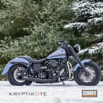 Harley Davidson Exhaust Cerakoted Using Cerakote Glacier Black