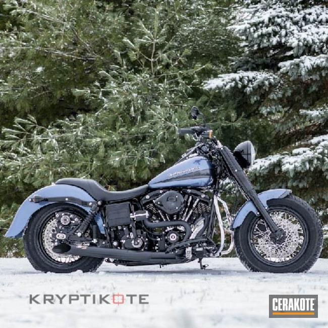 Cerakoted: Harley Davidson Exhaust,Harley Davidson,Automotive,CERAKOTE GLACIER BLACK C-7600