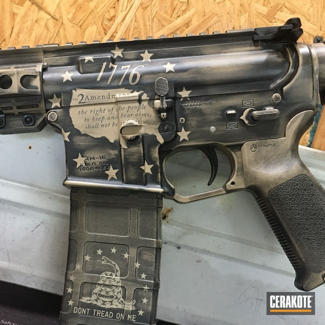 Cerakoted: S.H.O.T,Graphite Black H-146,Desert Sand H-199,AR-15,Constitution