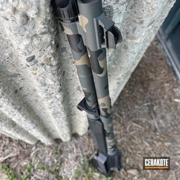 Custom Camo Benelli Cerakoted Using Sig™ Dark Grey, Graphite Black And Magpul® Flat Dark Earth