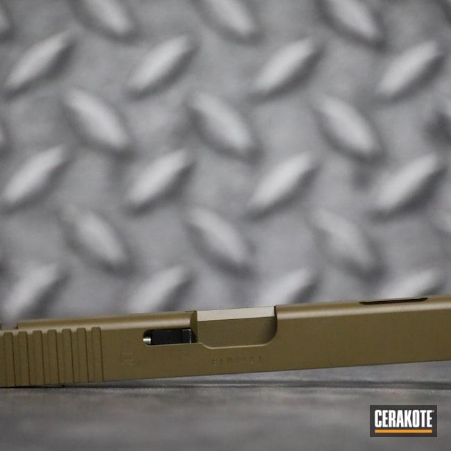 Cerakoted: S.H.O.T,9mm,Glock 19C,Glock Slide,Pistol,Glock,GLOCK® FDE H-261,Handgun