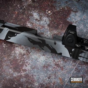 Custom Camo Glock Slide Cerakoted Using Armor Black, Sniper Grey And Battleship Grey