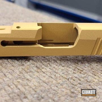 Sig Sauer P365 Pistol Slide Cerakoted Using Gold