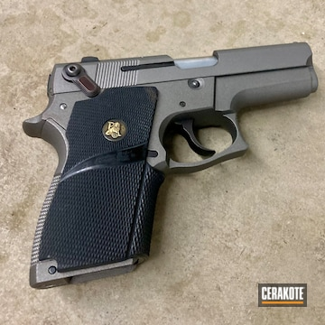 Smith & Wesson Pistol Cerakoted Using Stainless