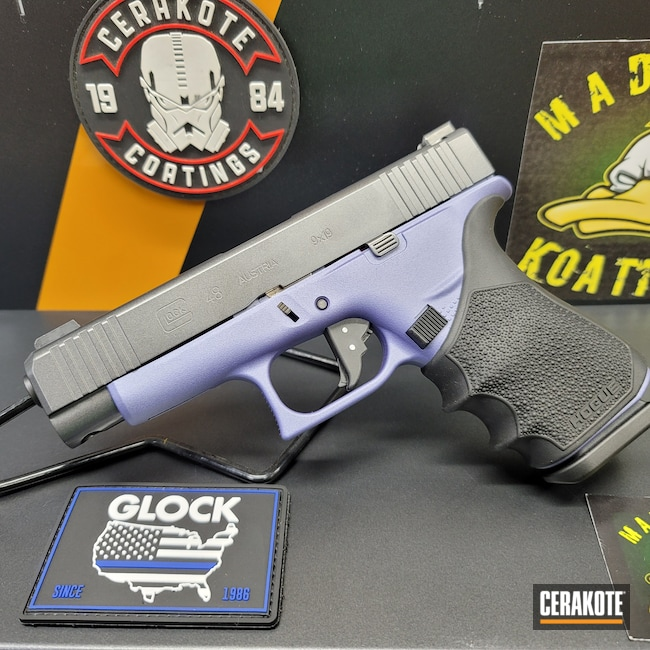 Cerakoted: Glock 48,S.H.O.T,Glock,CRUSHED ORCHID H-314,CARBON GREY E-240,g48