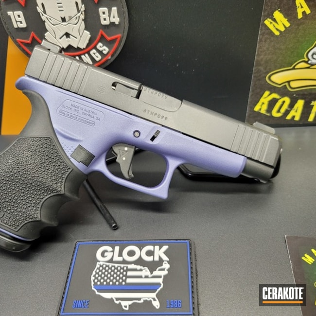 Glock 48 Cerakoted Using Crushed Orchid And Carbon Grey