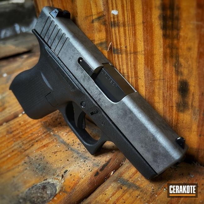 Cerakoted: S.H.O.T,Smoke,Glock 42,Tungsten H-237,Titanium H-170,Pistol,Glock,Pistol Slide,G42