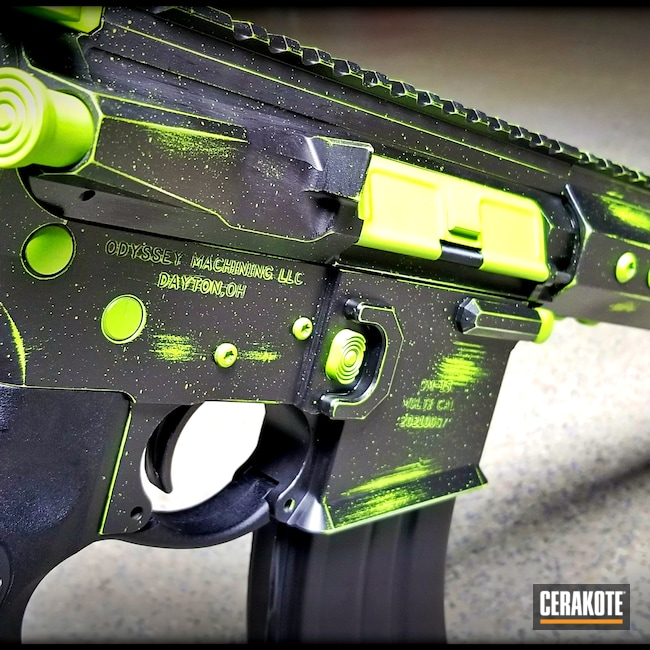 Cerakoted: S.H.O.T,Battleworn,Graphite Black H-146,Zombie Green H-168,AR Build