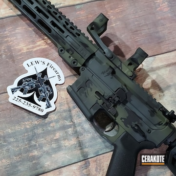 Custom Camo Ar Cerakoted Using Springfield® Grey, Sniper Green And Graphite Black