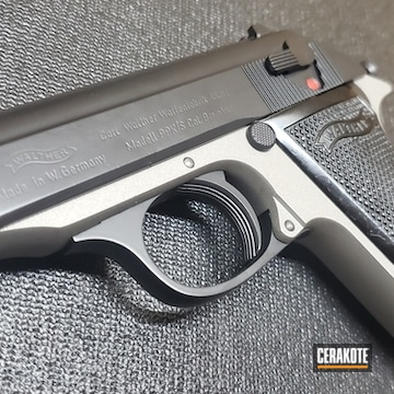 Walther Ppk Pistol Cerakoted Using Titanium And Blackout