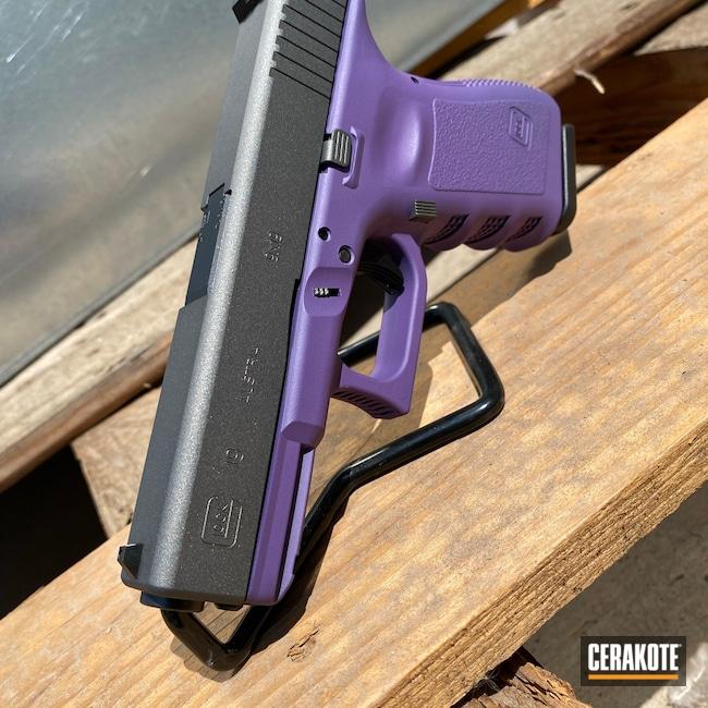 Cerakoted: S.H.O.T,Glock 19,9mm,Bright Purple H-217,Tungsten H-237,Glock