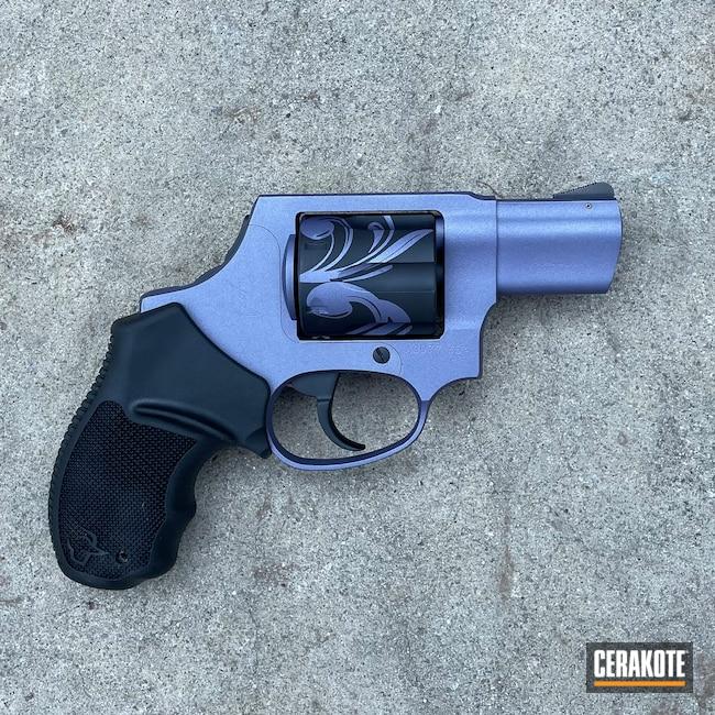 Cerakoted: S.H.O.T,Taurus Revolver,Custom,Graphite Black H-146,Revolver,Floral,CRUSHED ORCHID H-314,Taurus,.38