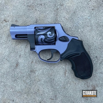Taurus Revolver Cerakoted Using Crushed Orchid And Graphite Black