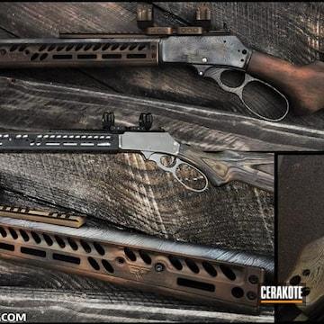 Firearms Cerakoted Using Satin Aluminum, Light Sand And Graphite Black