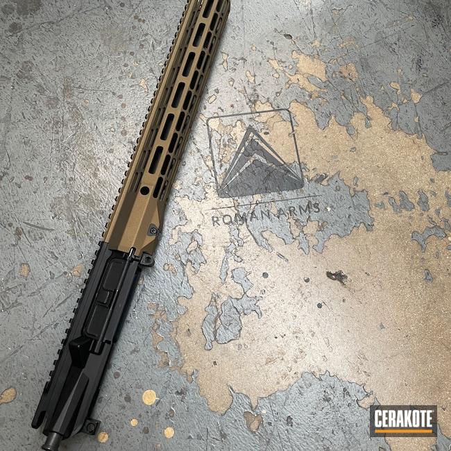 Cerakoted: S.H.O.T,Rifle,Modern Sporting Rifle,Handguard,Burnt Bronze H-148,Tactical Rifle,Complete Upper