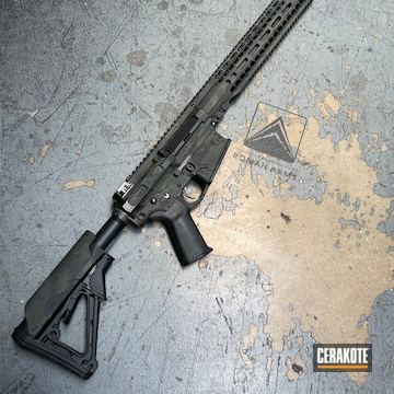 Urban Camo Ar Cerakoted Using Sniper Green, Sig™ Dark Grey And Graphite Black