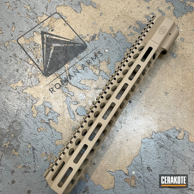 Cerakoted: S.H.O.T,Custom Mix,Titanium E-250,Wedge Lock,Rail,FNH,Handguard,FDE E-200,FN Herstal,FN,AR-15