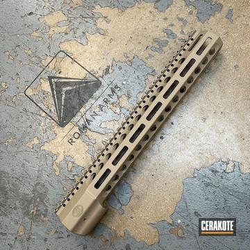 Ar Handguard Cerakoted Using Titanium And Fde
