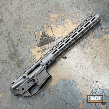 Ar Build Cerakoted Using Titanium, Bright Nickel And Tactical Grey