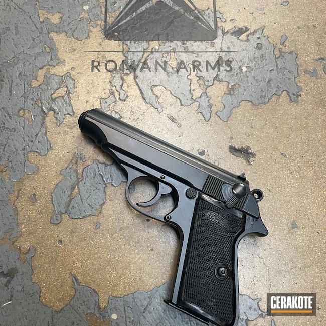 Cerakoted: S.H.O.T,Walther,BLACKOUT E-100,Restoration,Pistol,Handguns,Handgun