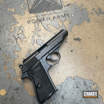Walther Pistol Cerakoted Using Blackout