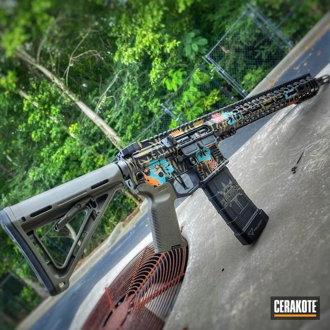 Cerakoted: S.H.O.T,Rifle,Bazooka Pink H-244,COPPER H-347,AZTEC TEAL H-349,SLR Rifleworks,.223,Boogaloo,Noveske Bazooka Green H-189,Flowers,A.I. Dark Earth H-250,It's A Boy H-356