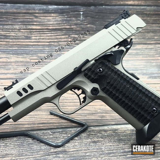 Cerakoted: S.H.O.T,Midnight Blue H-238,Classic Camo,Bul Armory,IPSC Gun,Classic,Titanium H-170,1911,.9