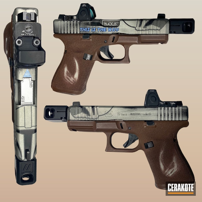 Cerakoted: S.H.O.T,Gen II Graphite Black HIR-146,MULTICAM® DARK BROWN H-342,Bright Nickel H-157,POLAR BLUE H-326