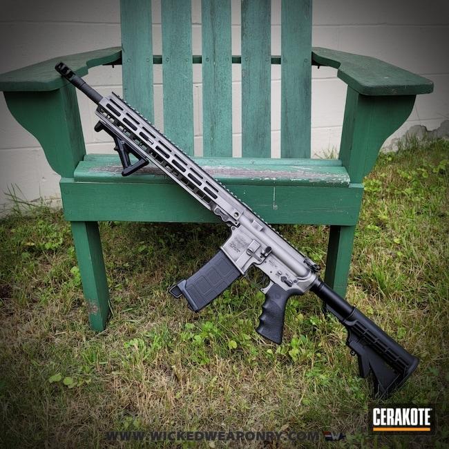 Cerakoted: S.H.O.T,Battleworn,Graphite Black H-146,Distressed,Gun Metal Grey H-219,Wickedworn,Wicked Weaponry,AR-15