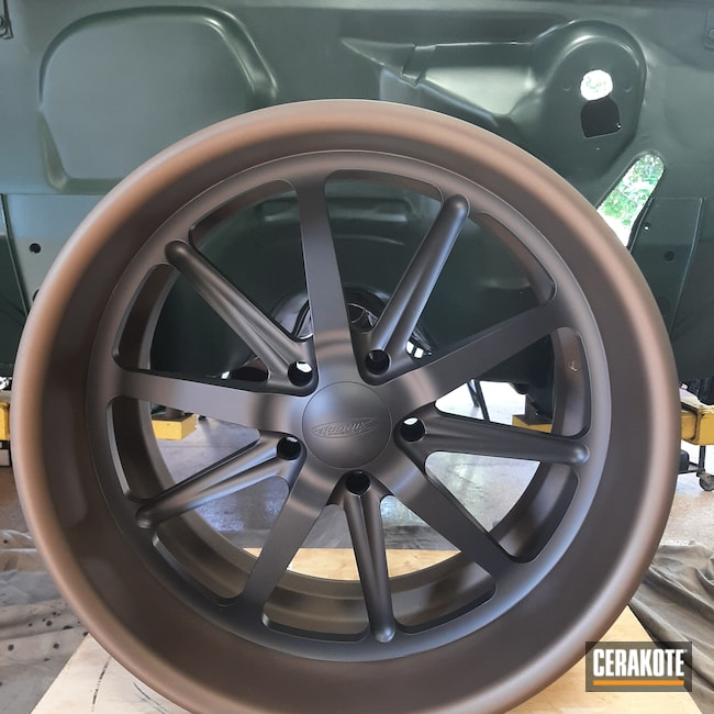 Cerakoted: Burnt Bronze C-148,Automotive,CERAKOTE GLACIER BLACK C-7600,VORTEX® BRONZE C-293,Wheels