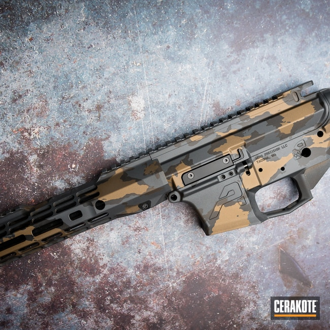 Cerakoted: S.H.O.T,Sniper Grey H-234,Burnt Bronze H-148,MULTICAM® DARK GREY H-345