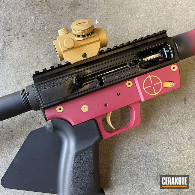 Cerakoted: S.H.O.T,Sedona H-333,Graphite Black H-146,.223,AR Build,Gold H-122,AR-15