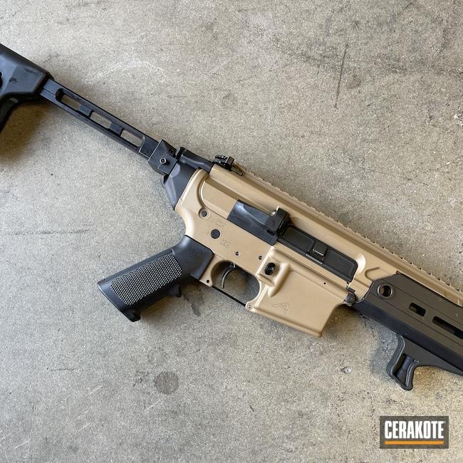 Cerakoted: S.H.O.T,AR Pistol,Mud Brown H-225,Armor Black H-190,.223,AR-15