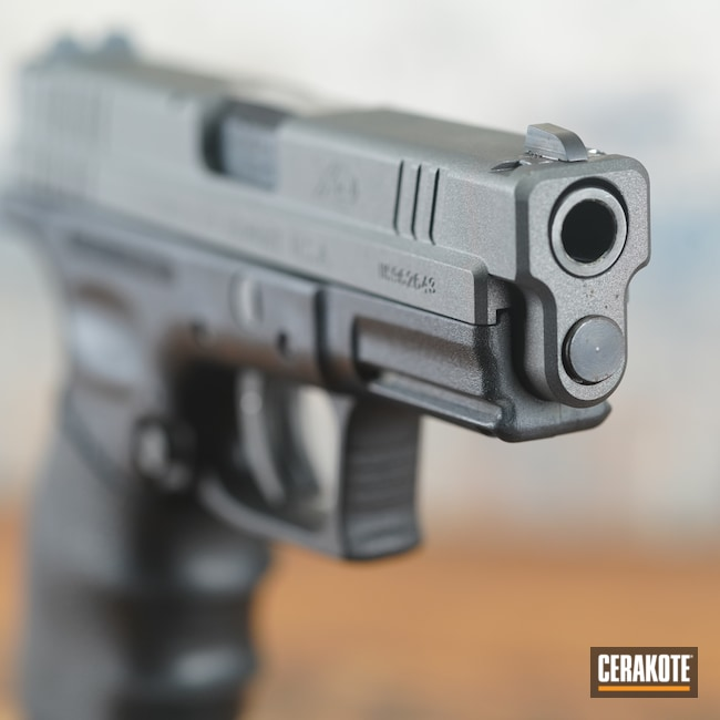 Cerakoted: S.H.O.T,Mag Release,Tungsten H-237,Firearms,Slide