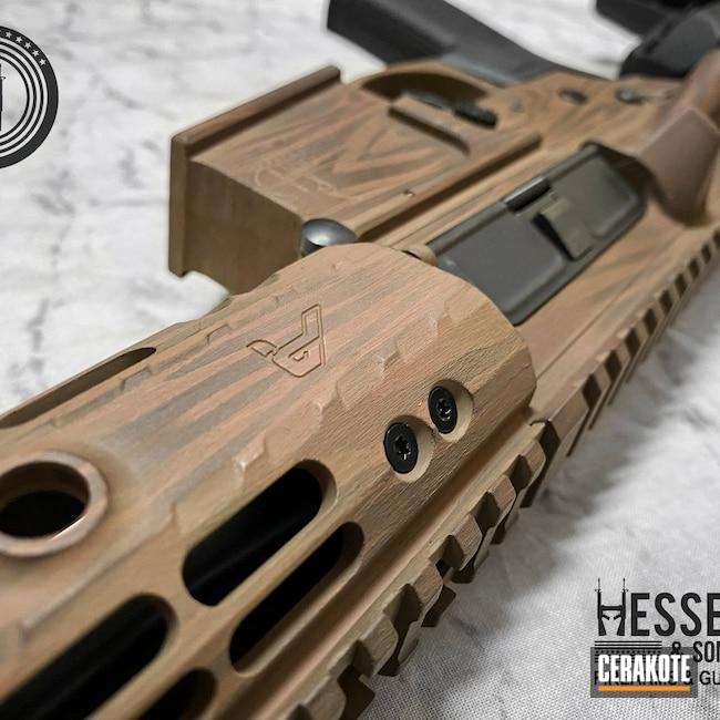 Cerakoted: S.H.O.T,Aero Precision,Wood,m4e1,Woodgrain,Wood Grain Pattern,Federal Brown H-212,BARRETT® BROWN H-269,5.56,AR Build