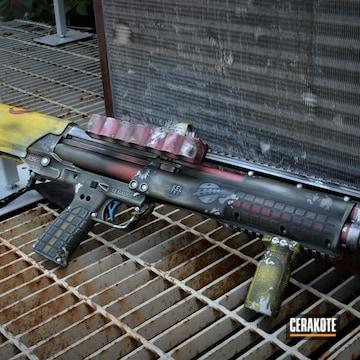 Star Wars Themed Shotgun Cerakoted Using Satin Aluminum, Crimson And Corvette Yellow
