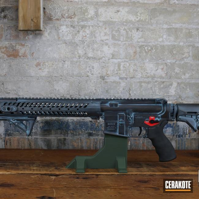 Cerakoted: S.H.O.T,Robin's Egg Blue H-175,Graphite Black H-146,AR,Burnt Bronze H-148,Firearms