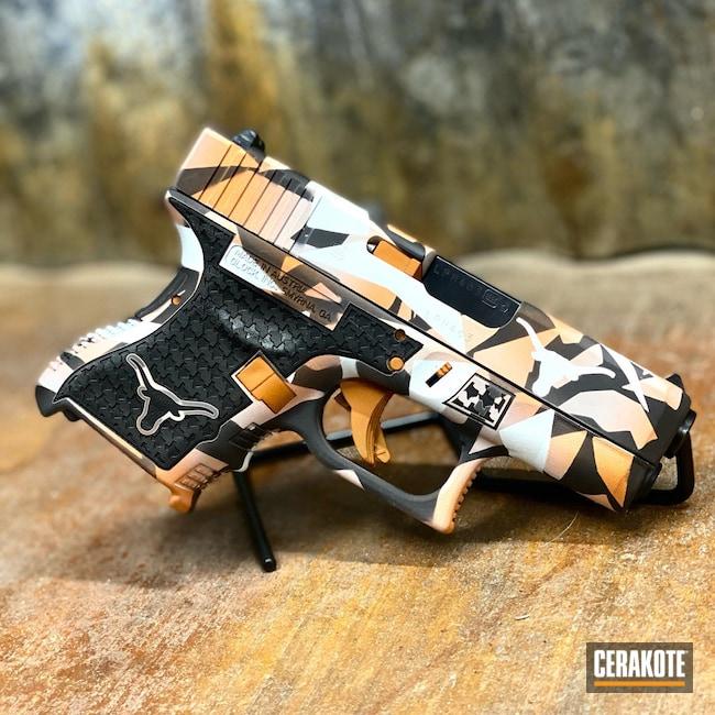 Cerakoted: Bright White H-140,S.H.O.T,Graphite Black H-146,Glock 23,Texas Longhorns