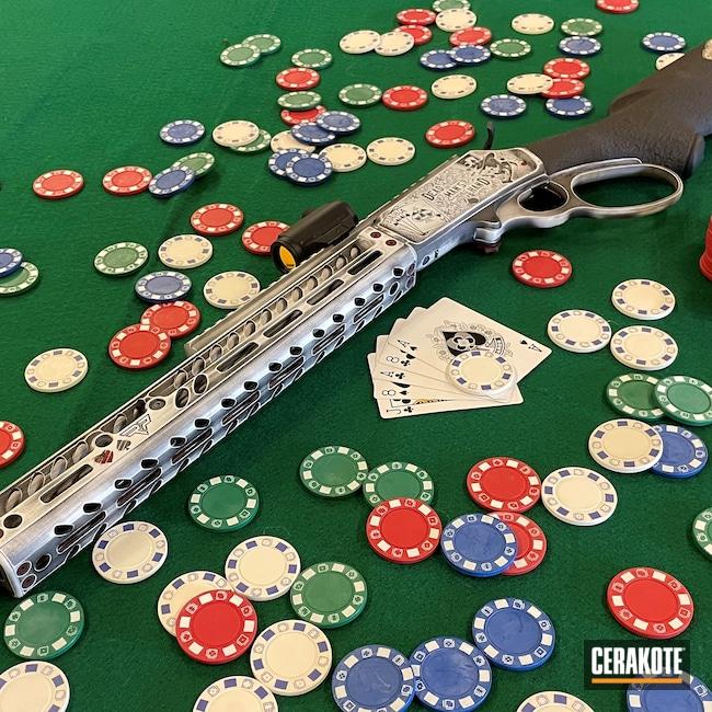 Cerakoted: S.H.O.T,Poker,Marlin,1894,Graphite Black H-146,Joker,Stormtrooper White H-297,Lever Action,44mag