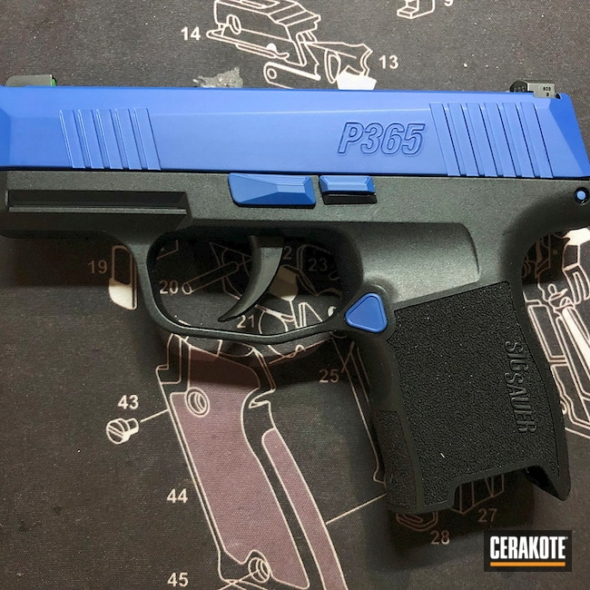 Cerakoted: S.H.O.T,Periwinkle H-357,Sig Sauer P365