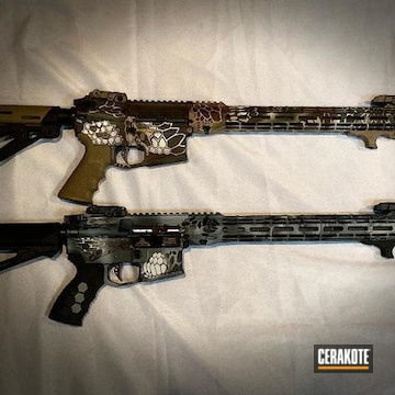 Ar's Cerakoted Using Barrett® Brown, Frost And Cobalt Kinetics™ Green