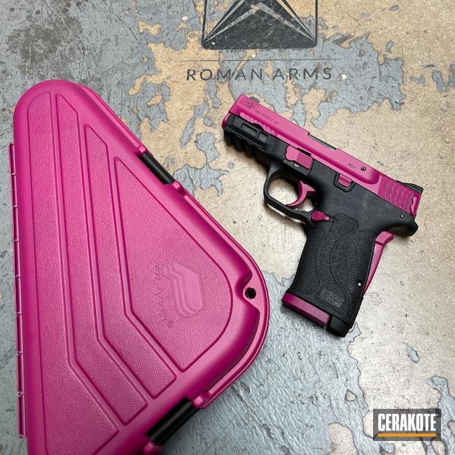 Cerakoted: S.H.O.T,Smith & Wesson M&P Shield EZ,Gun Case,Gift,Smith & Wesson M&P,Smith & Wesson M&P Shield,Girly,Matching,380EZ,Smith & Wesson,M&P Shield EZ,Small Parts,Sangria H-348
