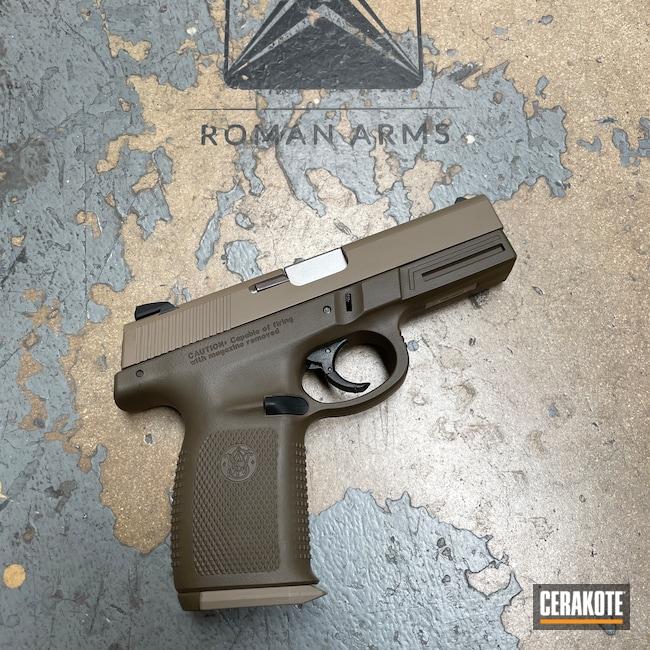Cerakoted: S.H.O.T,MAGPUL® FLAT DARK EARTH H-267,Magazine Base Plate,Smith & Wesson,Patriot Brown H-226,Pistol,Handguns,Handgun