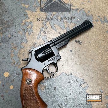 Dan Wesson Revolver Cerakoted Using Midnight And Blackout