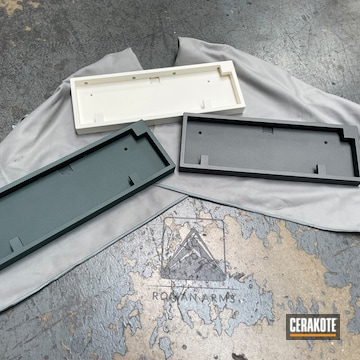 Keyboard Cases Cerakoted Using Charcoal Green, Snow White And Tactical Grey