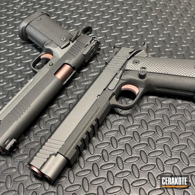 Cerakoted: S.H.O.T,Tungsten H-237,Pistol,1911,Rock Island,Cobalt H-112