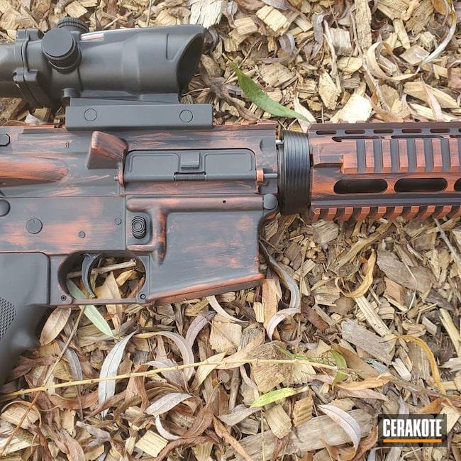 Cerakoted: S.H.O.T,Rifle,Rifles,Graphite Black H-146,Anderson,America,Tactical Rifle,.223,Hunter Orange H-128,.223 Wylde,AM-15,5.56