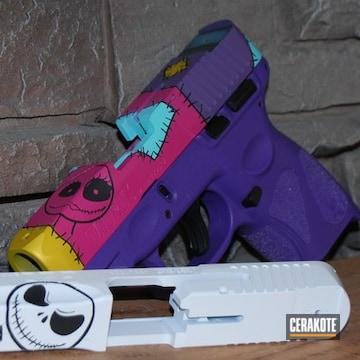 The Nightmare Before Christmas Themed Glock Cerakoted Using Sunflower, Stormtrooper White And Graphite Black